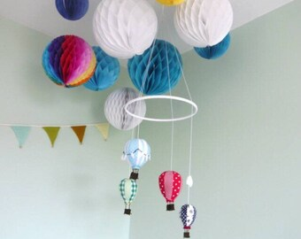 Hot Air Balloon Mobile - Cot Mobile