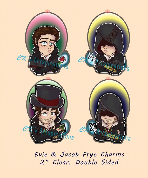 Jacob Evie Frye Acrylic Charms Assassin S Creed Etsy