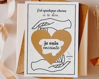 Scratch card, I'm pregnant, ad card, scratchie card, postcard, pregnancy postcard, mom-to-be, mom-to-be card