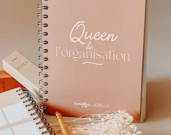 Notebook, organization QUEEN, A5, Agenda, gift idea, organization, ecological, home office, daily planner, office calendar, spirals