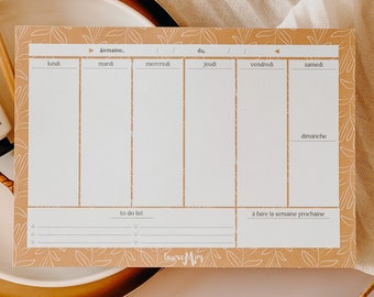 Agenda, weekly, gift idea, organization, ecological, home office, weekly planner, calendar, office diary, notebook, to-do-list