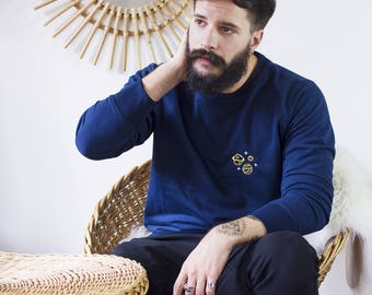 Sweat men embroidered planets 9SNXFCr