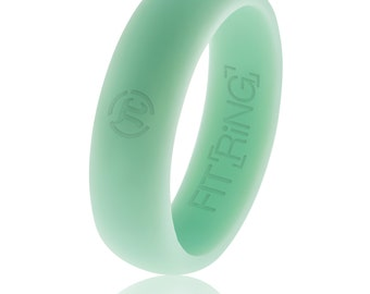 Fit Ring ™ Powered by Arthletic™ - Women's Silicone Wedding Ring (Black, Blue, Pink, Lilac Purple, Green) (Aurora Blue Featured)