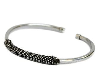 Bohemian Silver Bracelet - Boho Bracelet - Cuff Bracelet - Stackable Bracelets - Ethnic Bracelet - Tribal Bracelet - Adjustable Bracelet