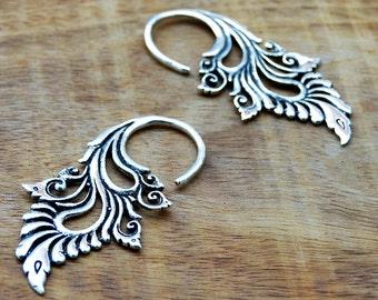 Tribal Earrings, Silver Earrings, Ethnic Earrings, Indian Earrings, Festival Earrings, Piercing Earrings,Tribal Jewelry, Indian Jewellery