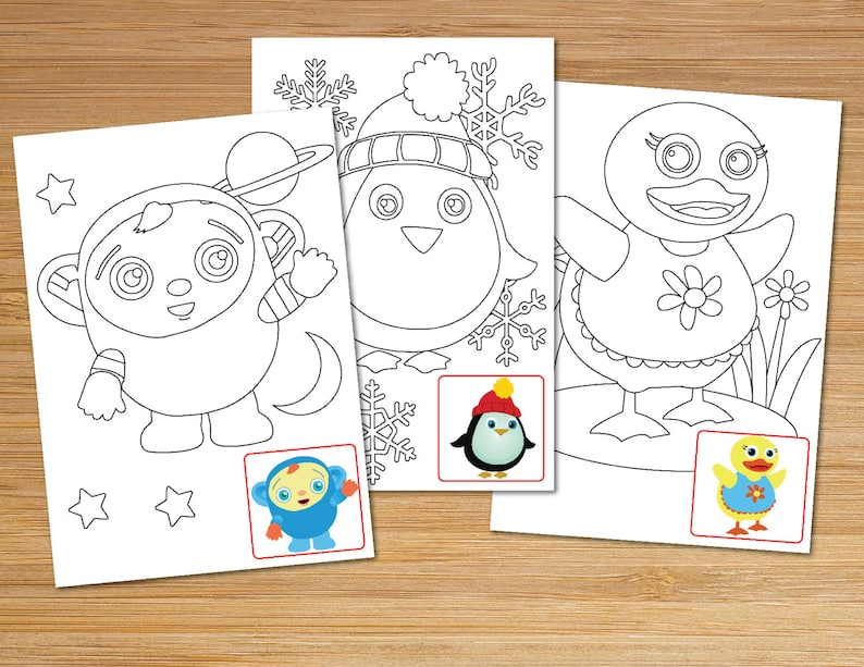 Baby First TV Printable Coloring Pages Instant Digital Download