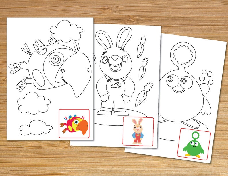 Baby First TV Printable Coloring Pages Instant Digital | Etsy