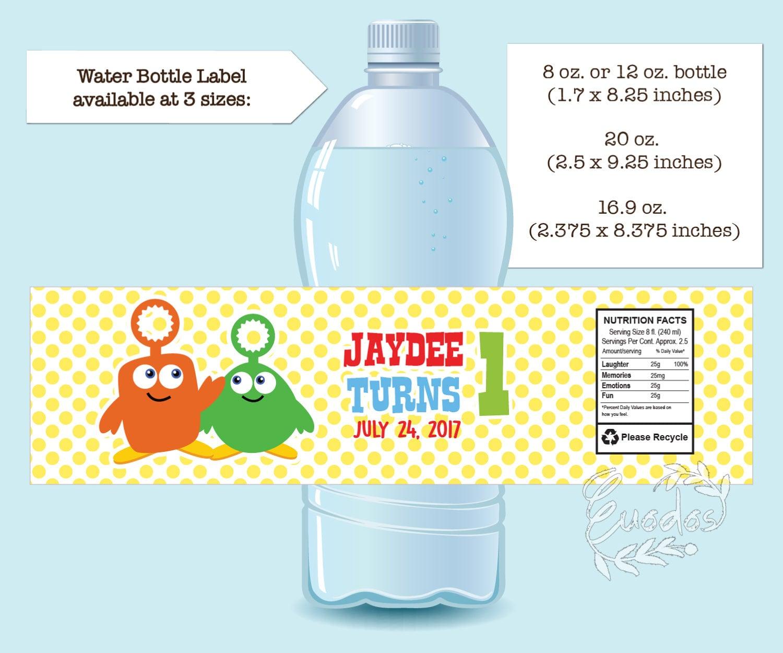PRINTABLE Custom Baby First TV Water Bottle Label