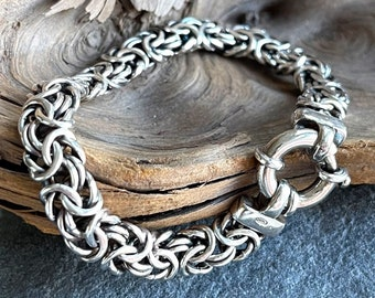 Vintage Silver Byzantine Bracelet, Free Shipping and Gift Wrap, Trending