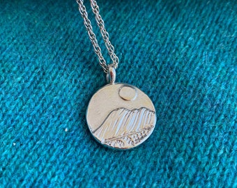 Handmade Silver Mountain Necklace, Free Shipping and Gift Wrap, Trending