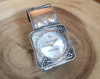 Silpada Square Silver Watch, Sterling Silver, Free Shipping and Gift Wrap, Trending