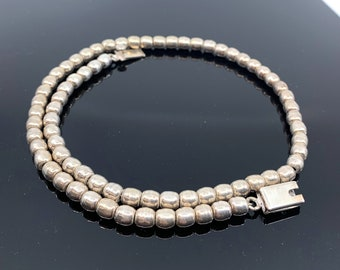 """Silver Beaded Necklace 18"""", Free Shipping and Gift Wrap, Trending"""