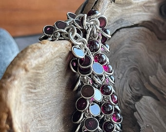 """RARE Silpada Garnet """"Cha Cha"""" Sterling Silver Bracelet, Free Shipping and Gift Wrap, Trending"""