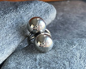 Large Sterling Silver Double Dome Ring, Free Shipping and Gift Wrap