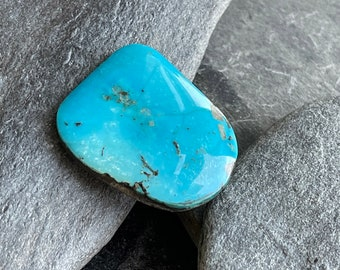 Large Blue Gem Turquoise Cabochon, 90 Carat, All Natural, Free Shipping