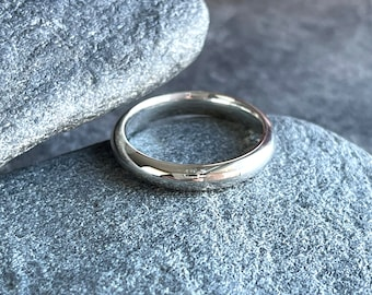 Sterling Silver Comfort Wedding Ring, Free Shipping & Free Gift Wrap
