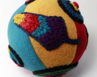 Boule, jouet à la main, doux, cousu, tricoté, peluche, original