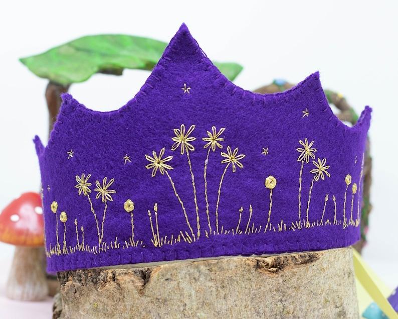 Hand Embroidered Crown Wedding Crown Embroidered Birthday Crown Adult Crown Crown Birthday Crown Kids Birthday Crown