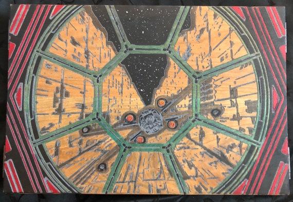 Star Wars Trench Battle Dungeon Master  Game Master Screen Cherry Hardwood Wooden DM Screen
