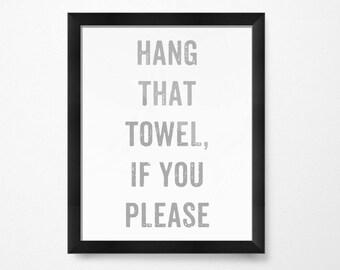 men s bathroom signs printable. Kids Bathroom Decor, Hang That Towel, Art PRINTABLE Art, Wall Decor Kids, Print Download, For Men S Signs Printable
