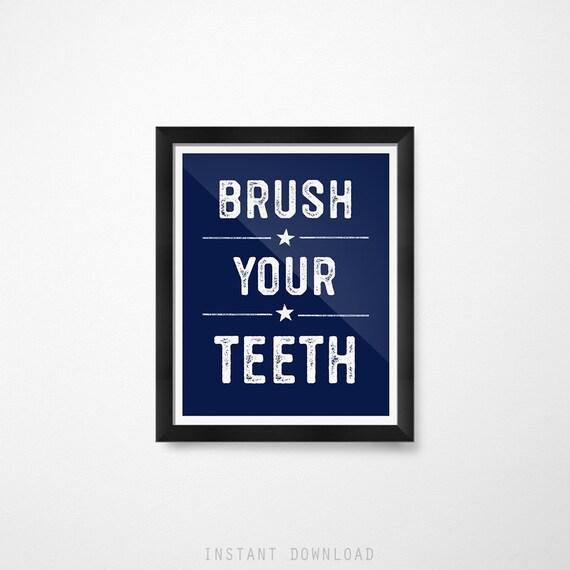 kids bathroom sign family image kids bathroom signs navy decor brush your teeth etsy