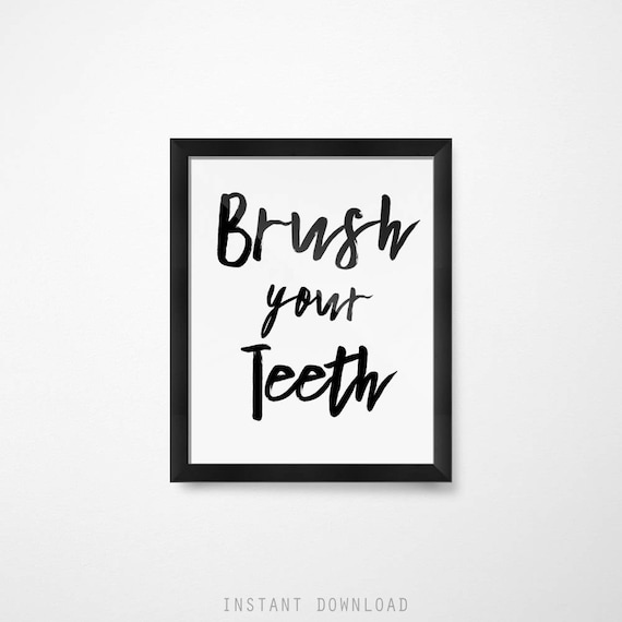 kids bathroom sign flush image kids bathroom decor signs brush your teeth etsy