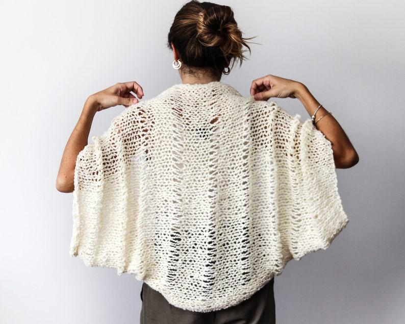 60df9e5985e Châle tricot cardigan cardigan mariée bohème châle laine