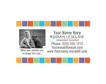 R f business card template etsy rodan fields diy cute business cards accmission Image collections