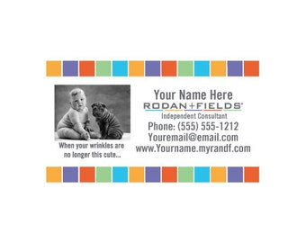 R f business card template etsy rodan fields diy cute business cards fbccfo Choice Image