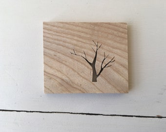 Tree Silhouette made from Ash