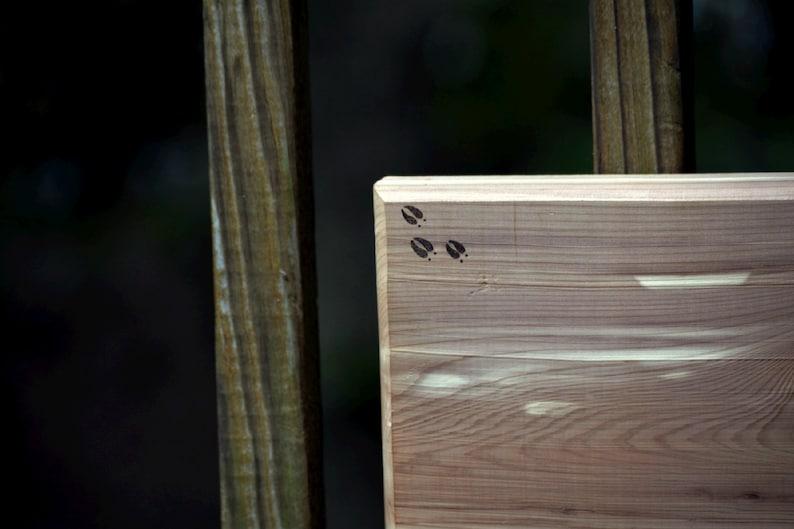 Wood Burned Cedar Cutting Board with Whitetail Buck