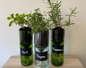Self Watering Wine Bottle Planter TUTORIAL / DIY Craft / Hydroponic Garden / Upcycled / Indoor Planter / Gift / Home Decor / Sustainable