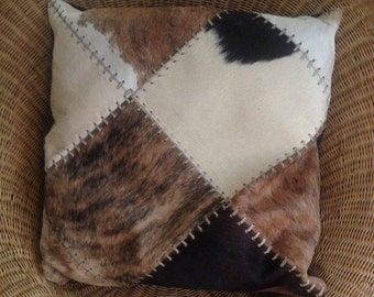 Cowhide Pillow Cover ,extra  large Cowhide Pillow Cover ,double sided