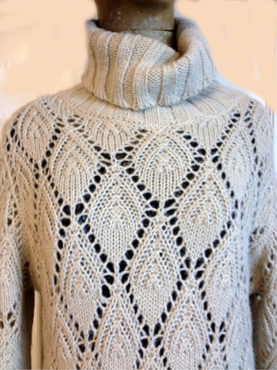 Cream Alpaca sweater, Alpaca jumper