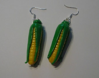 Earrings fimo création faite main Lamaisondepoutou corn-