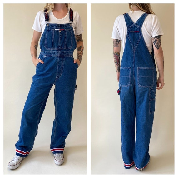 90s Tommy Hilfiger Denim Overalls // Jean Coverall