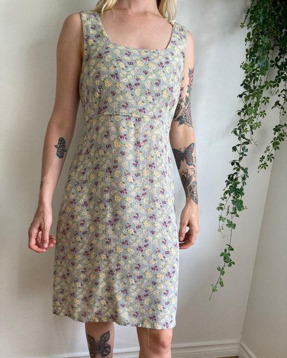 90s Floral Print Dress // Grunge Dress // Medium