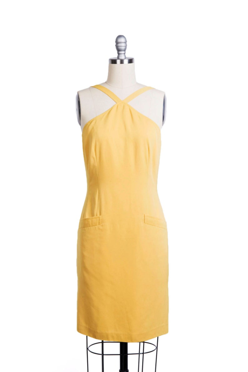 7bfbc5a1a9a01 Vintage 1960s sleeveless dress 60s Summer Dress Yellow day | Etsy