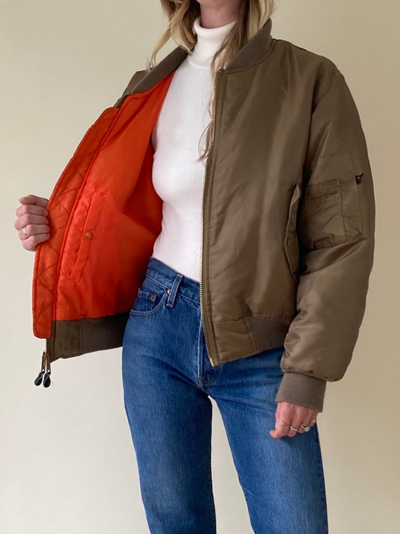 90s Pilots Jacket // Puffy Bomber // Medium