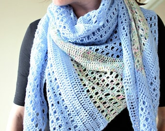 Off Your Rocker. Crochet Shawl Pattern PDF download