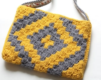 C2C Geo Bag Crochet PDF Pattern. 3 Designs included!