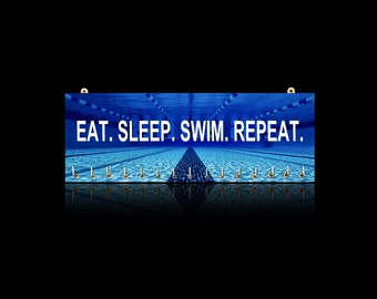 Swimming Inspirational Quotes, Sports Medal Hangers, Displays & Plaques