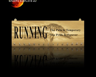 Running Inspirational Sports Quotes Medal Hangers, Displays & Plaques