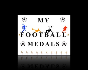 Football Sports Medal Hangers, Displays & Plaques