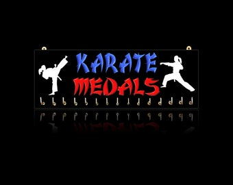 Karate Sports Medal Hangers, Displays & Plaques - Male and Female
