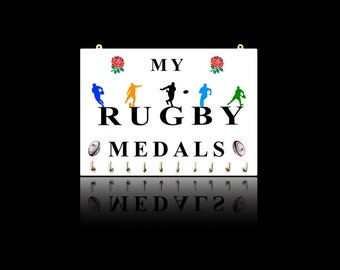 Rugby Sports Medal Hangers, Displays & Plaques