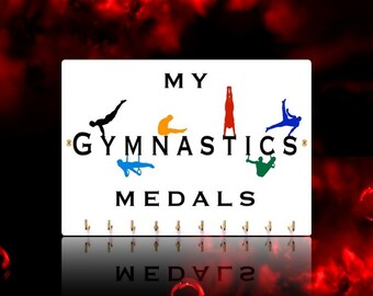 MALE Gymnastics Sports Medal Hangers, Displays & Plaques