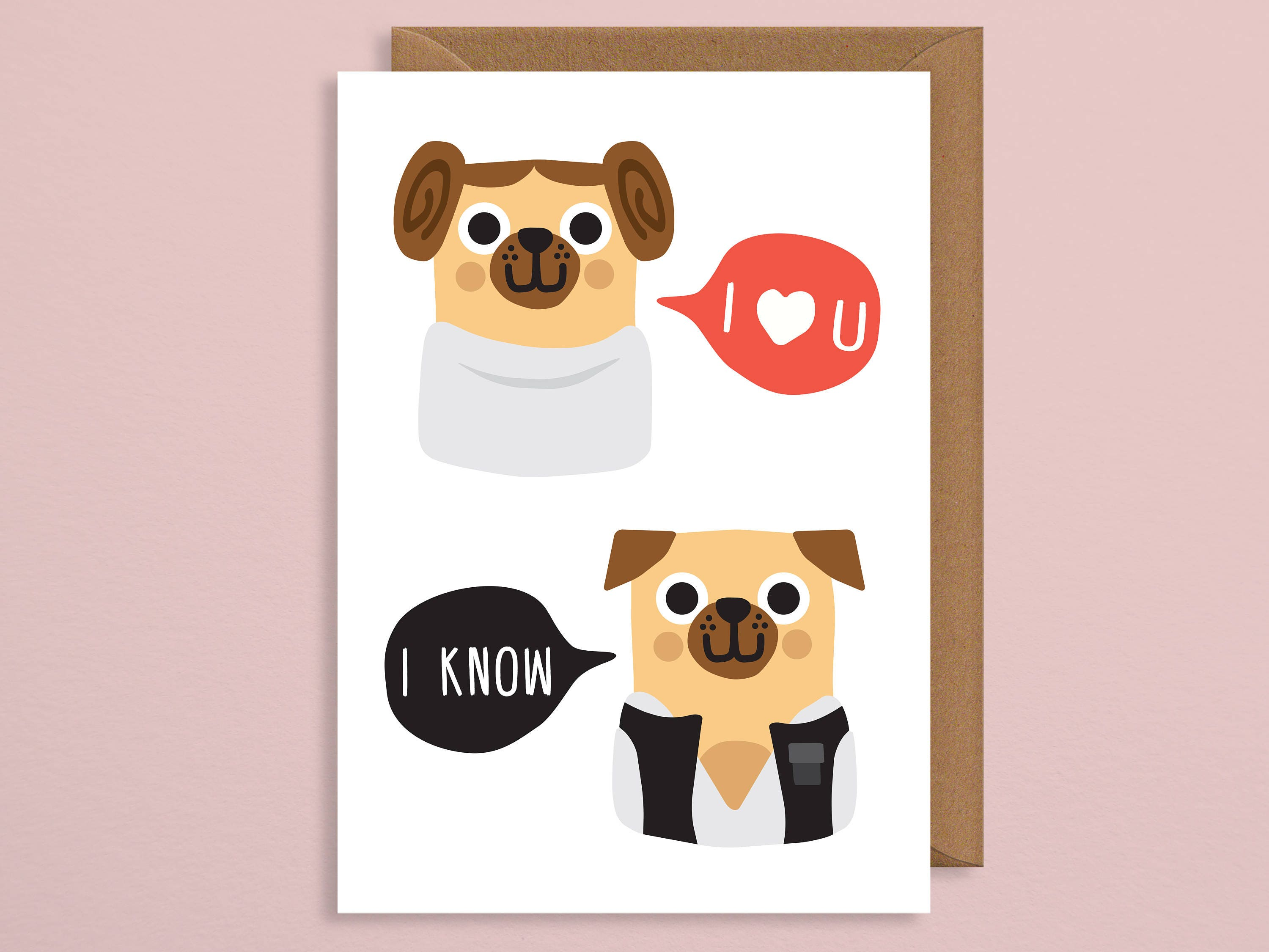 I Love You I Know Geeky Valentines Day Card Pun Valentines Etsy