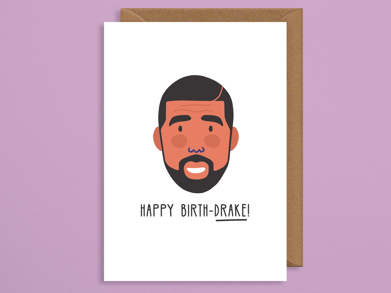 Happy Birthdrake Carddrake Birthday Cardhip Hop
