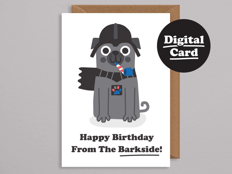 Printable Birthday Carddigital Birthday Cardpug Cardfunny